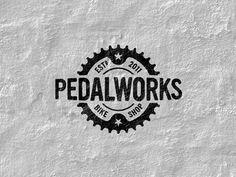 Pedalworks Vintage Logo Design Inspiration