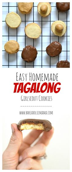 Bakeaholic Mama: Homemade Tagalong Girl Scout Cookies ~Copycat~