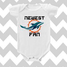 Newest Miami Dolphins Fan Neutral Bodysuit by SimplyChicBabyShop, $13.95