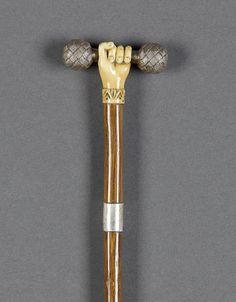 Ivory hand walking cane