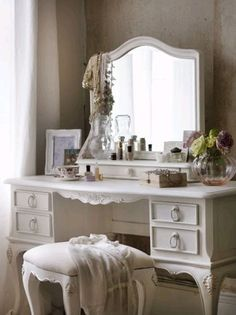 A some day addition to my bedroom, a shabby chic vanity.