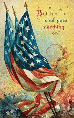 vintage Memorial Day card ~ artwork by Ellen Clapsaddle | via Magic Moonlight Studio