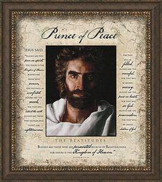 Prince of Peace Beatitudes, Framed Art