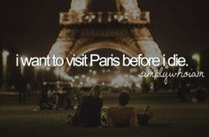 Bucket list - Also want to go for my future honeymoon some day.