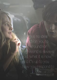 """There is no ideal world for you to wait around for..."" #warmbodies"