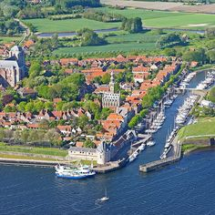 The beautiful town and harbour of Veere, Zeeland, Netherlands: