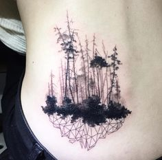 Geometric Forrest Tattoo by Ilwol - TATTOOBLEND - More from this artist.