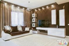 Brown living Living Room, Relax, Room, House, Color, Home Decor, Curtains, Living Design, Color Design