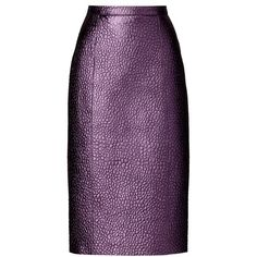 Burberry Metallic Leather Pencil Skirt ($2,495) ❤ liked on Polyvore