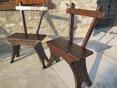 French primitive Arts & Crafts chairs