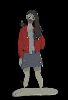 Touching Herself, Victoria, Anime, Poster, Design, Art, Art Background, Kunst, Cartoon Movies