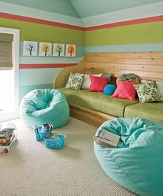 Great inspiration for a kids chill out room