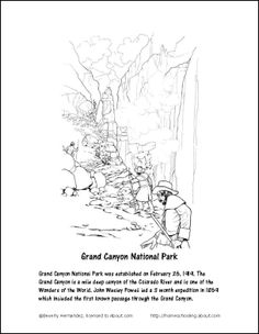 grand canyon coloring pages - photo#18
