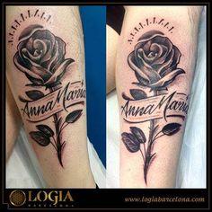 Tatuajes De Rosas Con Nombres Para Mujeres Y Hombres Tatuajes Para