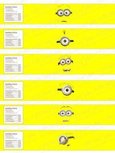 Free Printable Water Bottle Labels | Printable Despicable Me Water Bottle Labels…