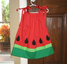 I can find a watermelon dress? We have a town fun day, called Watermelon Days, and I've been trying to find a watermelon dress with no luck. Toddler Dress, Toddler Outfits, Baby Dress, Kids Outfits, Sewing For Kids, Baby Sewing, Toddler Fashion, Kids Fashion, Little Girl Dresses
