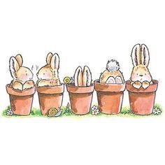"Penny Black ""bunny friends"""