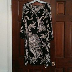 Peck and Peck dress Brown paisley polyester dress Peck and Peck Dresses