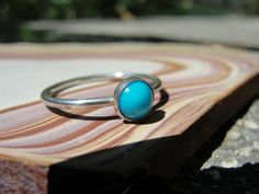 Turquoise Sterling Silver Stacking Ring