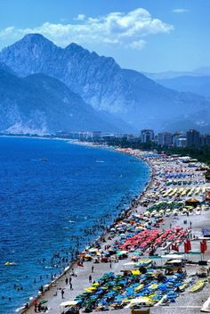 Konyaaltı Plajı Antalya-Türkiye There are many places to be visited in the world and Turkey. We share with remote locations. Beautiful Places In The World, Places Around The World, Travel Around The World, Beautiful Beaches, Around The Worlds, Places To Travel, Places To See, Ancient City, Visit Turkey