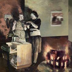 Lars Elling, War Widows, 2015, Öl auf Leinwand/Oil on canvas, 170 x 170 cm