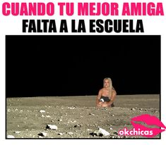 meme ok chicas chica rubia sentada sola en la luna