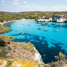Menorca is Majorca and Ibiza's little sister. It offers beautiful coves and mind-healing peace and quiet allowing you to get away from the crowds! #menorca #beauty #cove #relax #island #paradise #travel #spain #wanderlust Hotels-live.com via https