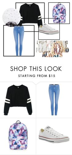 """""""Back to school outfit"""" by alexyss-sarah on Polyvore featuring Paige Denim, Accessorize, Converse and Lollipop"""