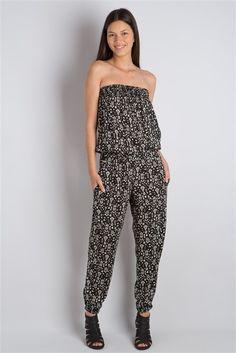Combi-pantalon bustier imprimé sur Cache-cache.com ♥