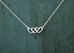 Infinite Love Infinity Necklace Sterling Silver Minimalist Jewelry Heart Necklace Best Friends Gift Mothers gift on Wanelo