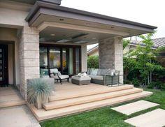 Modern patio ceiling ideas beach modern outdoor living contemporary porch outdoor porch design home decorators collection . Modern Front Porches, Front Porch Design, Porch Designs, Front Deck, Modern Farmhouse Porch, Farmhouse Front, Farmhouse Ideas, Modern Outdoor Living, Modern Patio