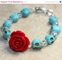 Sugar Skull Sale Sugar Skull Jewelry Day of the by VivaGailBeads, $13.20