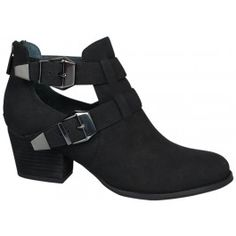 Summer boots! CACHET Black leather $159.95 from Wittners at #Macquarie Centre