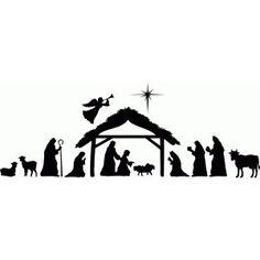 Silhouette Design Store - View Design #69803: Large nativity scene