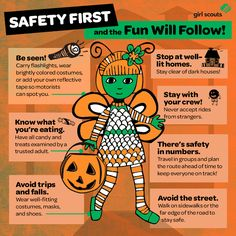 A fun illustration to help keep girls safe this Halloween