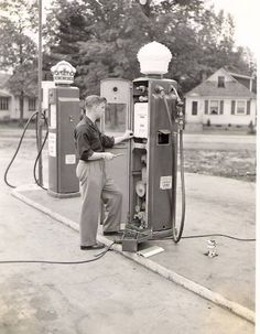 .gas pumps that I pumped gas with at my fathers gas station back in the day