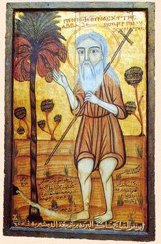 Coptic Icons--Saint Onophrios