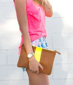Love the fit of that tank and the soft shorts // neon summer - a house in the hills