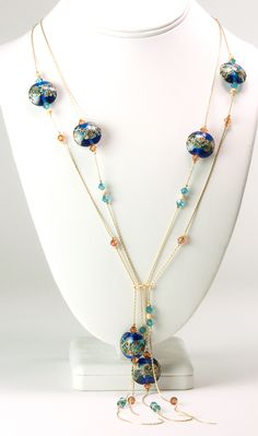 Jewelry Making Idea: Impressionist Waterfall Necklace