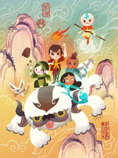 """""""Masters of Elements"""" (2015) Gallery Nucleus is doing a The Legend of Korra / Avatar: the Last Airbender Tribute Exhibition. the limited number signed prints are availablehttp://www.gallerynucleus.com/detail/18719 March 7, 2015 - March 22,..."""