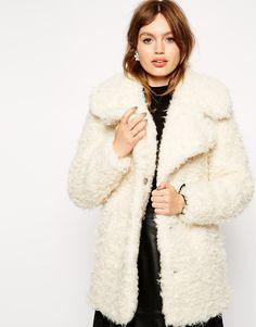 ASOS Faux Curly Fur Coat http://asos.to/W7Sd5k