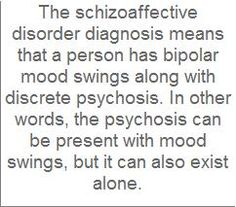 Both of these illnesses are serious and require ongoing psychiatric treatment.  Out of control, either than severely disrupt a person's life and relationships.  Perhaps Schizoaffective Disorder may be a little more complicated, because the person still has psychotic symptoms even when no active mood problem is expressing itself.  So, the medications needed may be more.