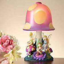 disney Tinkerbell Fairies Mushroom lamp light