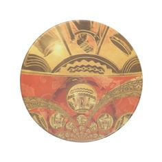 Golden red African #traditional art #Sandstone #Coaster #Amazing #Stuff, #beautiful #stuff #products #sold on #Zazzle. #Customized #Product