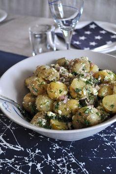 Fransk potatissallad Salad Recipes, Vegan Recipes, Dessert Recipes, Swedish Recipes, Recipes From Heaven, Everyday Food, Food Inspiration, Kung Pao Chicken, Potato Salad