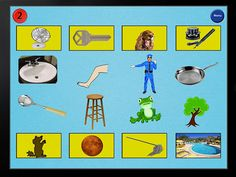 "Rhyme Sorts HD ($1.99) ""Rhyme Sorts"" HD for iPad helps develop auditory discrimination by matching rhyme sounds. In this fun educational game, the child tries to match the rhyming pair of pictures and audio to the rhyme images shown on top and bottom. At any time, the child can tap the picture to hear what the rhyme word sounds like.     * Easy to learn educational game for children ages 3-6.   * Game helps children develop rhyming skills.   * Child will match rhyming picture sounds."