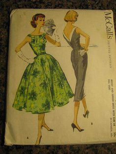 McCall's 4417, ca. 1957; Sz 12/Bust 32; acquired on eBay 10/13/12 for 20.50