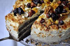 Mniam: Tort makowy z kremem waniliowym i nutą pomarańczy Russian Pastries, Russian Cakes, Russian Desserts, Russian Recipes, Food Cakes, Cupcake Cakes, Sweet Recipes, Cake Recipes, Hungarian Cake
