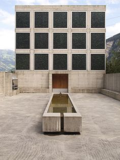 """""""Place For Meditation"""" in the Uri Canton of Switzerland, by artist Johann Bossart with architects Guenard and Sanders Guignard Saner (1998)"""