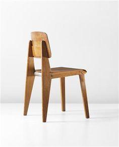 Demountable chair, model no.CB22, Manufactured by Les Ateliers Jean Prouvé, France. 1947